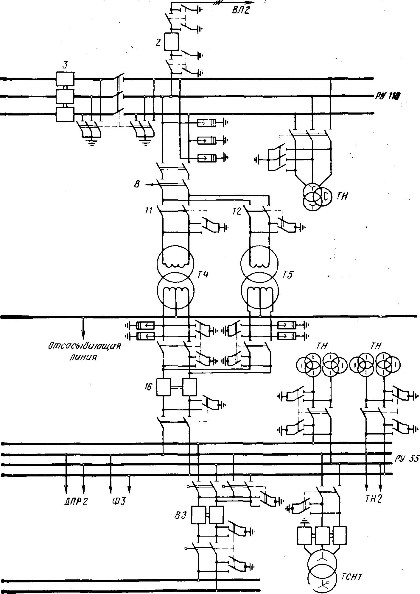 Двухобмоточные трансформаторы схема