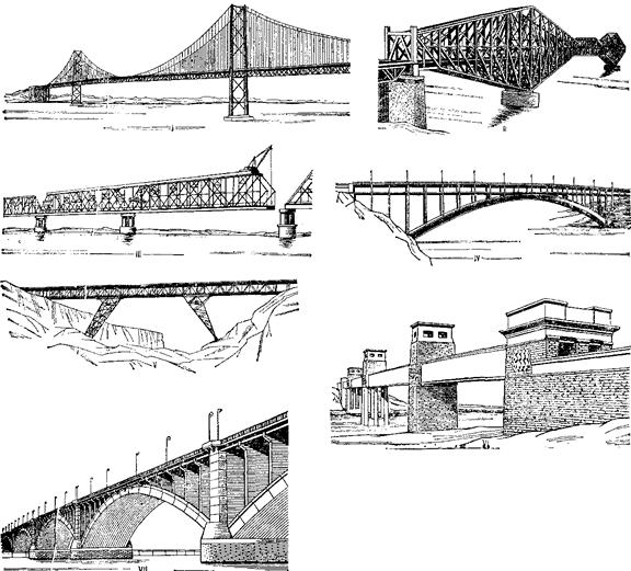 Рис 4 схема моста со сквозными