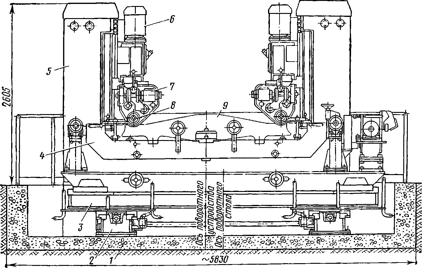 агрегат для обработки направляющих пазов надрессорных балок тележек