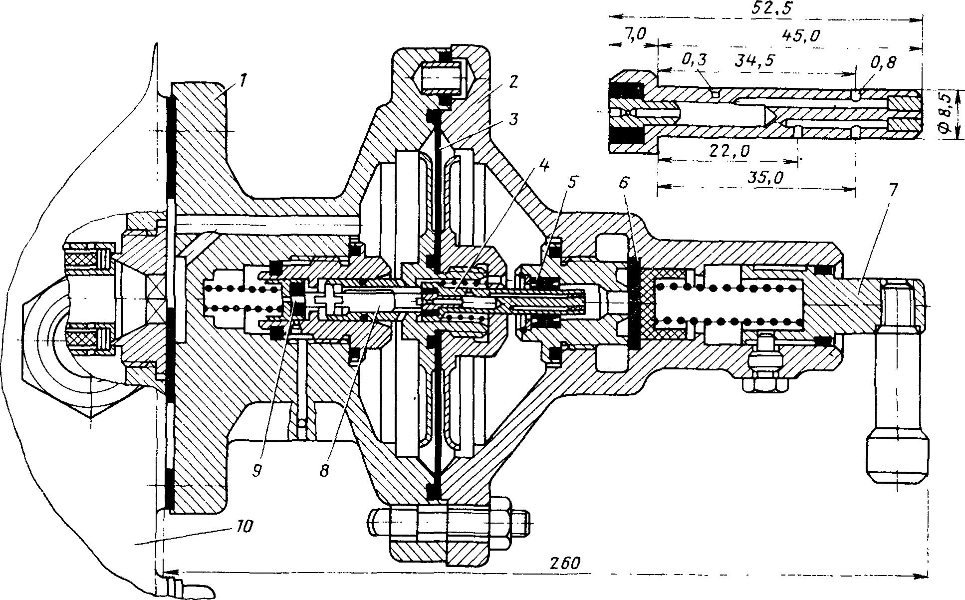 Диаметр отверстий в клапане дополнительной разрядки